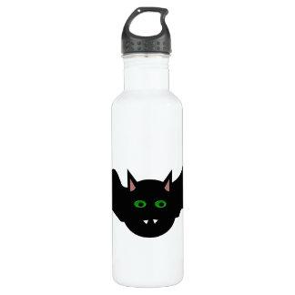 Vampire Cat Faced Bat Halloween Water Bottle
