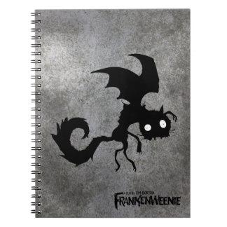 Vampire Cat Silhouette Spiral Notebook