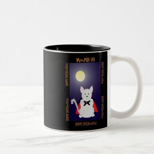 Vampire Cat Two-Tone Coffee Mug