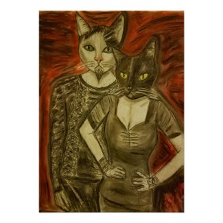 Vampire Cats Poster