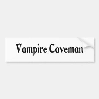 Vampire Caveman Bumper Sticker