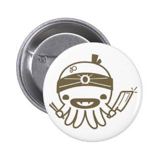 Vampire Chef Cartoon Octopus Halloween Button