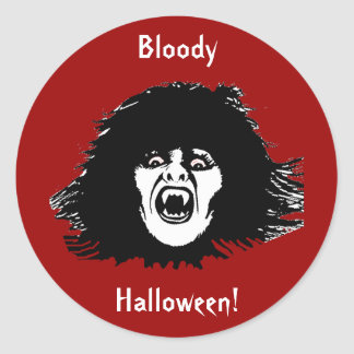 Vampire Chick a Real Treat Classic Round Sticker