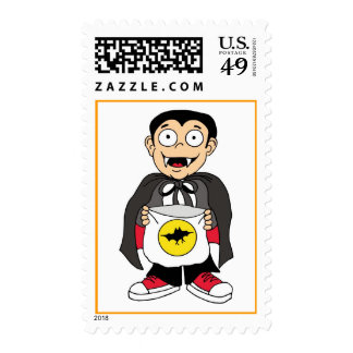 Vampire child postage stamps