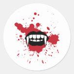 Vampire Classic Round Sticker