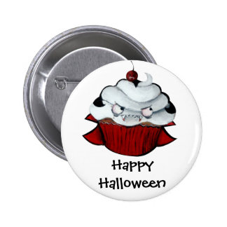 Vampire Count Cupcake Pinback Buttons