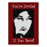 "Vampire Count Dracula Halloween Party Invitation 5"" X 7"" Invitation Card"