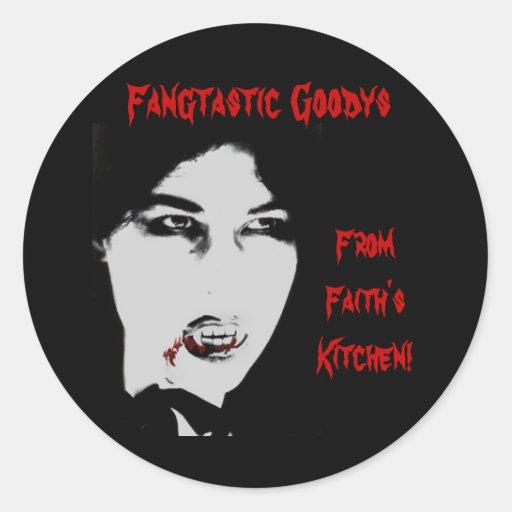 Vampire Count Halloween Baking Label Stickers