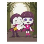 Vampire Couple Postcard