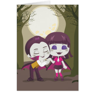 Vampire Couple Stationery Note Card
