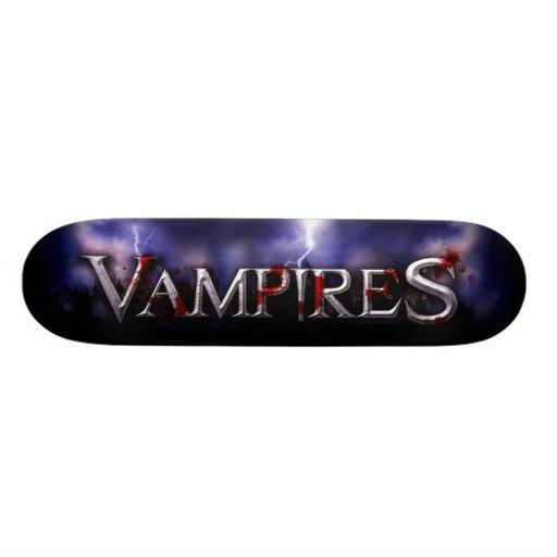vampire custom skate board