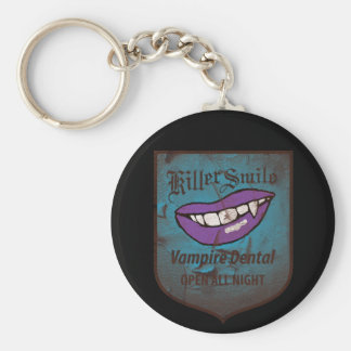 Vampire Dental Basic Round Button Keychain