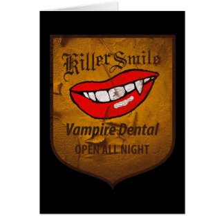 Vampire Dental Greeting Card