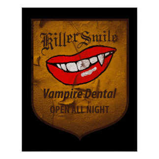 Vampire Dental Poster