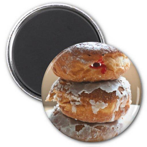 Vampire Donut Stack 2 Inch Round Magnet