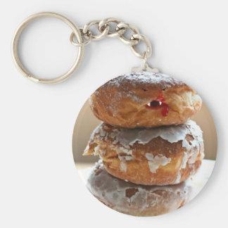 Vampire Donut Stack Basic Round Button Keychain