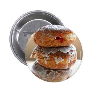 Vampire Donut Stack Pinback Button