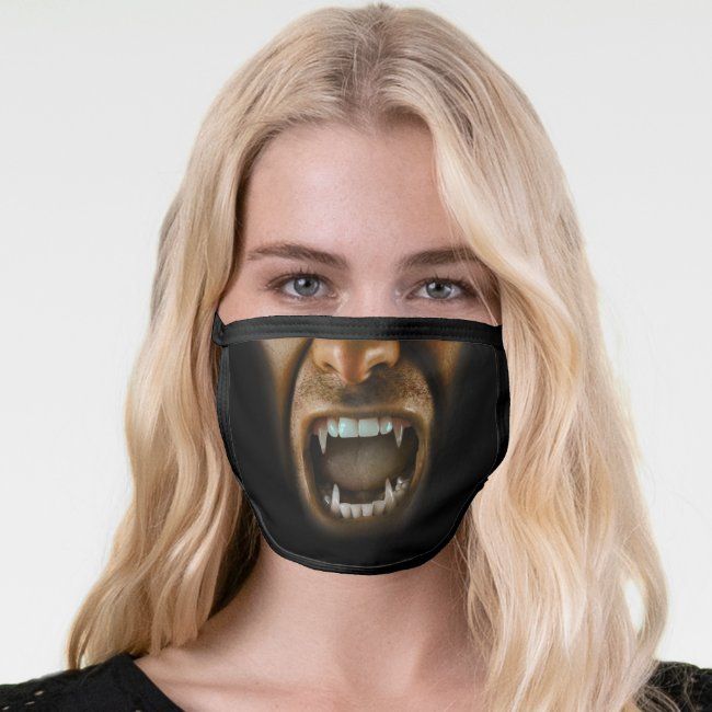 Vampire Dracula Fangs Sharp Teeth Scary Face Mask