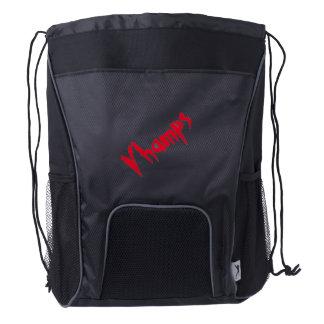 Vampire Drawstring Backpack, Black Drawstring Backpack