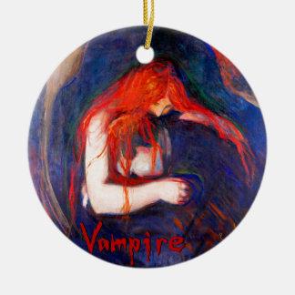 Vampire Edvard Munch Ceramic Ornament