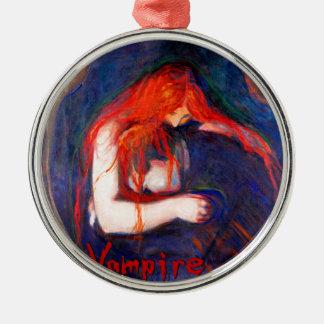 Vampire Edvard Munch Metal Ornament