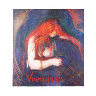 Vampire Edvard Munch Notepad