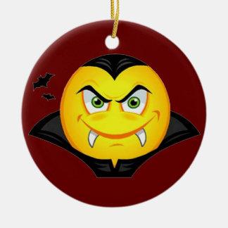 Vampire Emoticom Ceramic Ornament