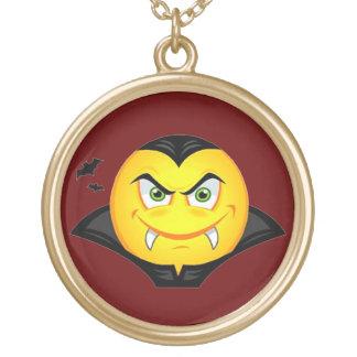 Vampire Emoticom Gold Plated Necklace