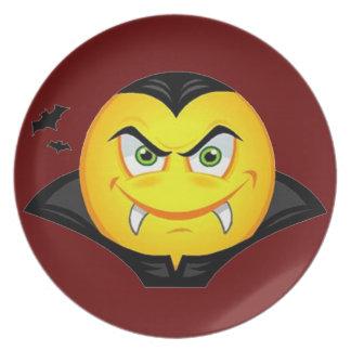 Vampire Emoticom Plate