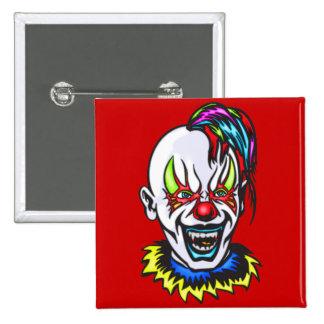 Vampire Evil Clown 2 Inch Square Button