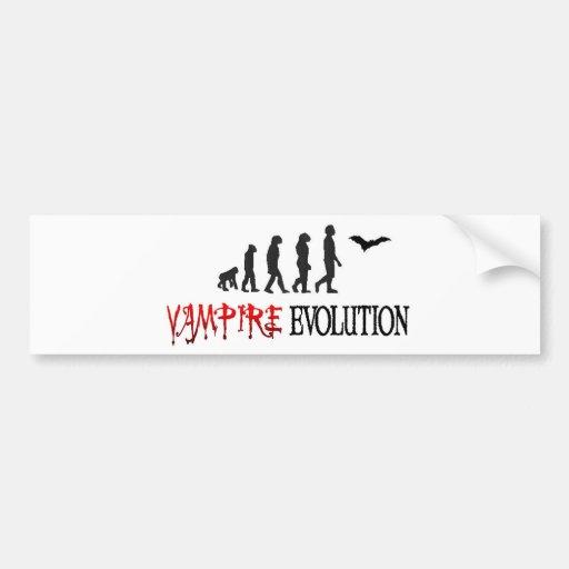 Vampire Evolution Car Bumper Sticker