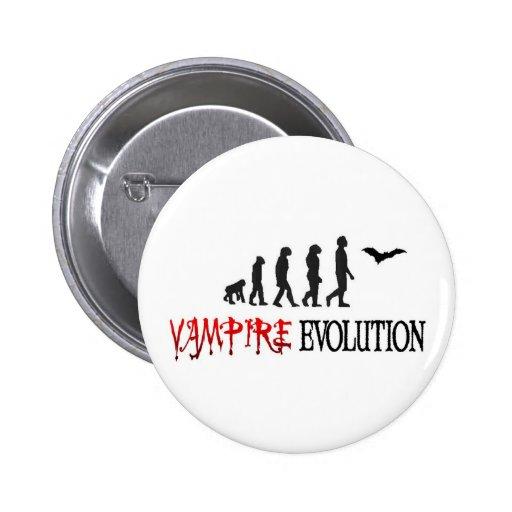 Vampire Evolution Pinback Buttons