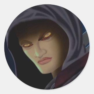 Vampire eyes classic round sticker