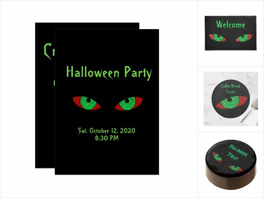 Vampire Eyes Halloween Design Product and Decor