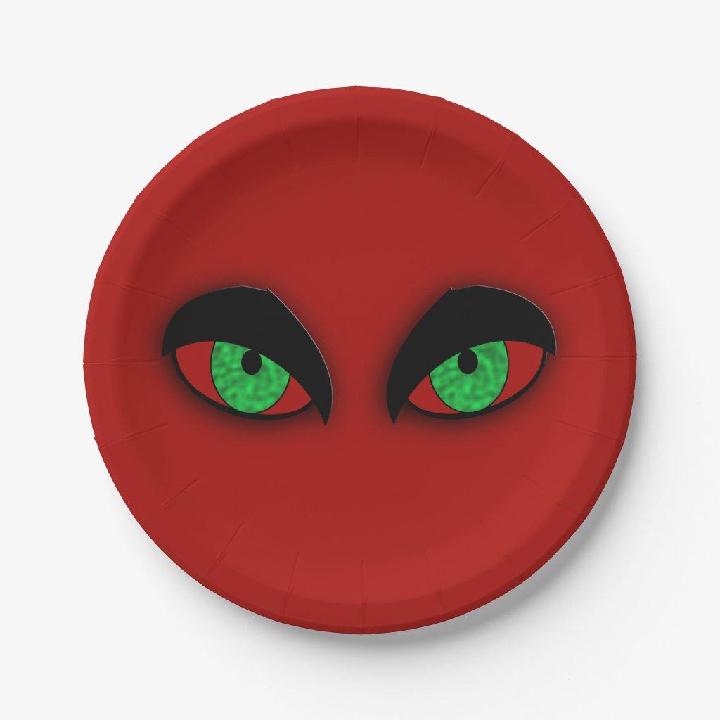 Vampire Eyes Paper Plate
