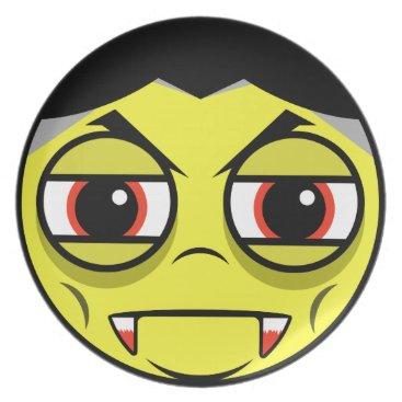 Halloween Themed Vampire Face Melamine Plate