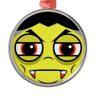 Halloween Themed Vampire Face Metal Ornament