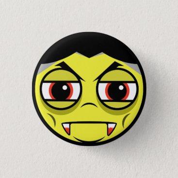 Halloween Themed Vampire Face Pinback Button