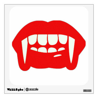 Vampire Fangs and Lips Halloween Decal Wall Decal