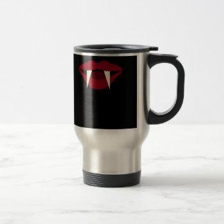 Vampire Fangs Blood Red Lips 15 Oz Stainless Steel Travel Mug