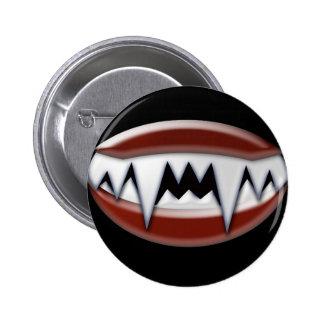 Vampire Fangs Pinback Button