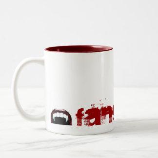 vampire-fangs, FANGBANGER Two-Tone Coffee Mug