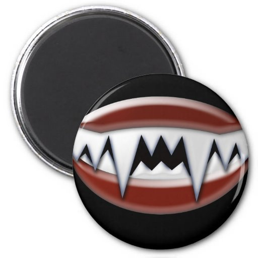 Vampire Fangs Fridge Magnet