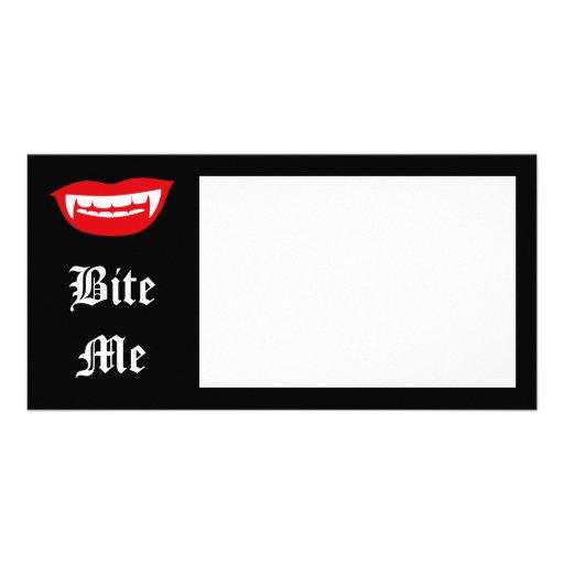 Vampire Fangs Photo Card