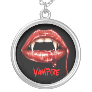 vampire fangs, Vampire Silver Plated Necklace