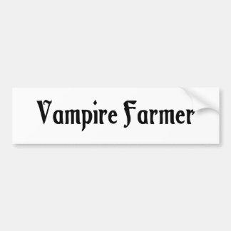 Vampire Farmer Bumper Sticker