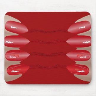 Vampire finger V.2 Mouse Pad
