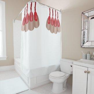 Vampire finger V.2 Shower Curtain