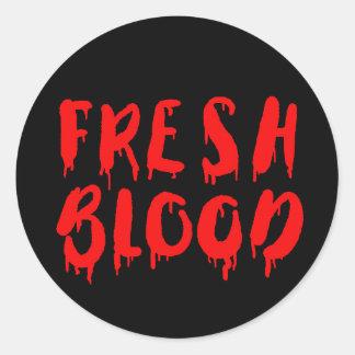 Vampire Fresh Blood Halloween drinks label