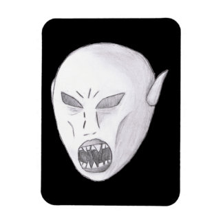 Vampire Ghoul Sketch Rectangle Magnets